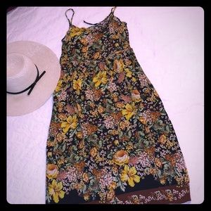 Zara flower print midi dress